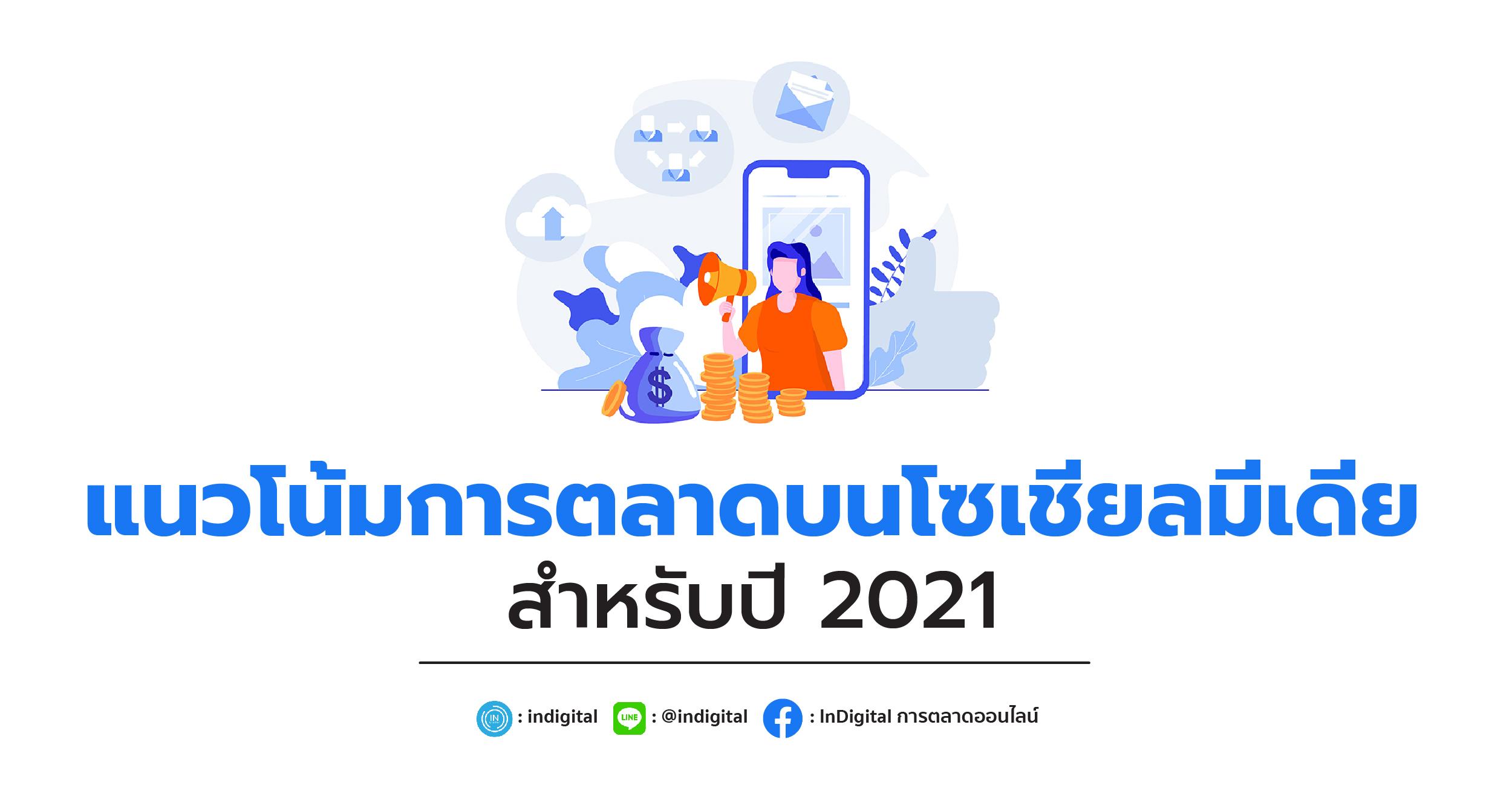 แนวโน้มการตลาดบนโซเชียลมีเดียสำหรับปี 2021