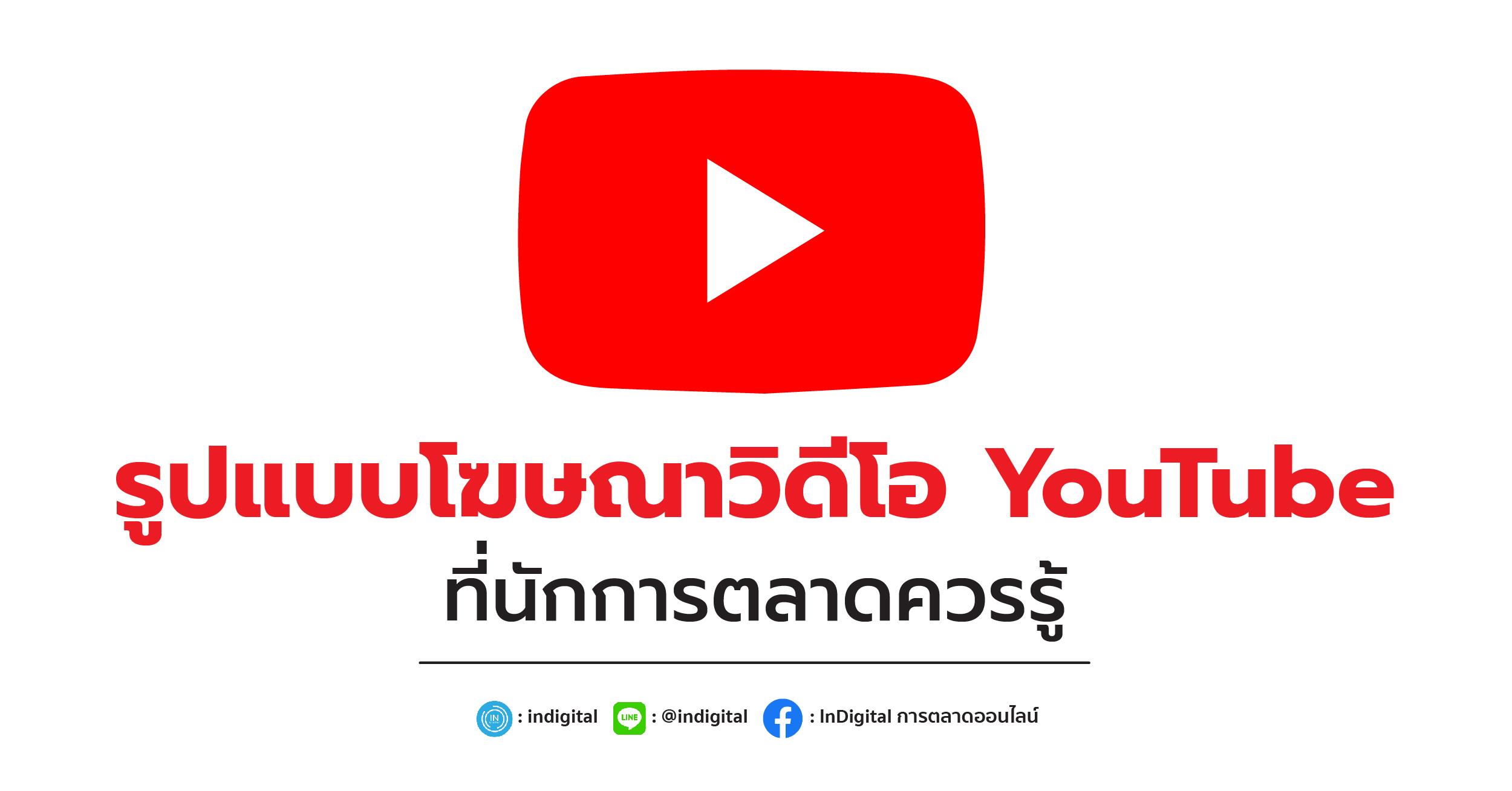 รูปแบบโฆษณาวิดีโอ YouTube ที่นักการตลาดควรรู้