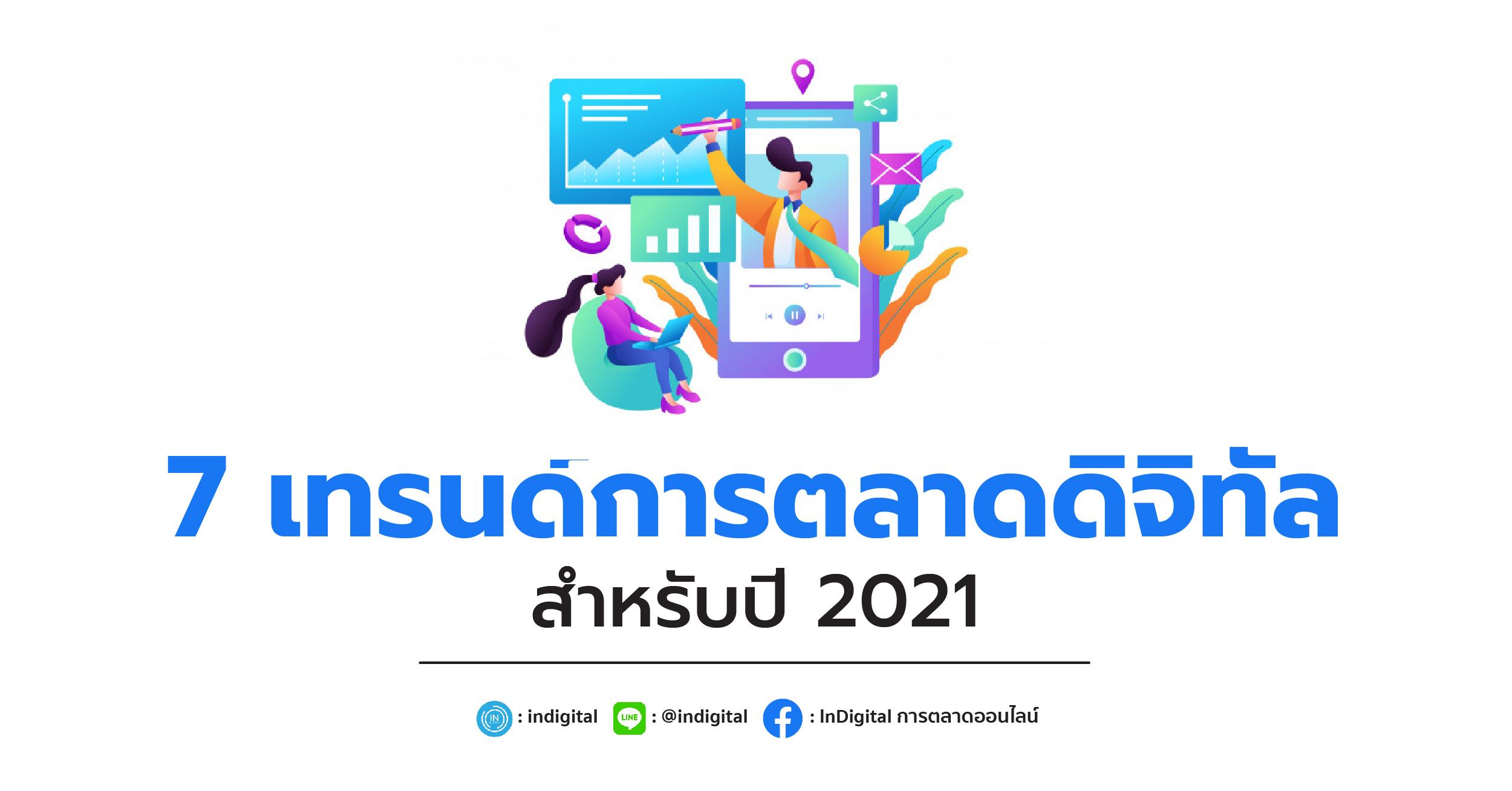 7 เทรนด์การตลาดดิจิทัลสำหรับปี 2021